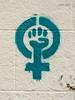 Stencil. Símbolo feminista. Arte Urbano 2014/03 (Madrid) (Juan Alcor) Tags: madrid arteurbano stencil simbolo feminista