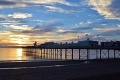 Sunrise over Paignton Pier (Explored) (Hoovering_crompton) Tags: backlit sunrise paignton pier english riviera torbay sans sand nikon d3300 explored explore devon