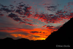 Sunrise This Morning (Mimi Ditchie) Tags: sunrise clouds pinkclouds mountains light silhouettes