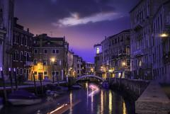 Venetian paths 35 (Maurizio51( nonno ter)) Tags: venice venezia italy city cityscape architecture sunset night water nikon