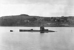 Submarine C 19 (Dundee City Archives) Tags: royalnavy submarine sub c19 49 rivertay mooring moored flotilla fife newport dundee base 1909 1910 7th 7thsubmarineflotilla