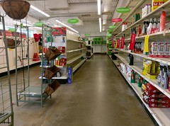 Garden Center overview, late May 2016 (l_dawg2000) Tags: 2016 90s bigk bluelightspecial closing corinth departmentstore discountstore flood goingoutofbusiness kmart liquidation mississippi ms old remodel remodeled sale store vintage unitedstates usa