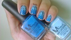 Blueberry Blast + Power Surge - Misa (Raabh Aquino) Tags: unhas esmalte azul gradiente fogo nails nailpolish blue fire