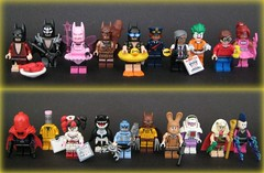 71017: The Lego Batman Series (Beɳ) Tags: collectibleminifigures thelegobatmanseries numbers120 lobsterlovin'batman glammetalbatman fairybatman clanofthecavebatman vacationbatman barbaragordon commissionergordon arkhamasylumjoker dickgrayson pinkpowerbatgirl redhood eraser nurseharleyquinn orca zodiacmaster catman marchharriet calculator kingtut mime