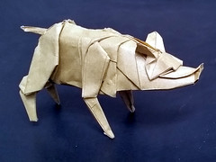 Wild Boar (Leong, Cheng Chit) Tags: wild boar swing pig origami