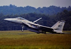 F-15C Eagle 80-0020/BT 525thTFS/36thTFW USAFE (Bitburg AB, Germany). Soesterberg Air Base, the Netherlands. 11 July 1986. (Aircraft throughout the years) Tags: f15 mcdonnell douglas f15c eagle 800020 bt 525thtfs 36tfw 5252tfs 36thtfw usaf usafe bitburg ab soesterberg air base netherlands 1986
