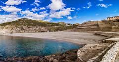 Argentiera Harbor 2 (antoniosimula) Tags: alghero alguer allaperto cielo sky nuvole cloud nikond3200 d3200 sigma 1770 azzurro mare sea beach sabbia spiaggia baia harbor sardegna sardinia argentiera architettura rock