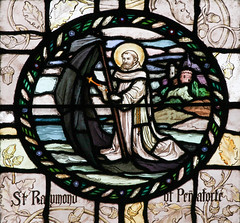 St Raymund of Penyafort (Lawrence OP) Tags: raymond saints dominican sail cappa stainedglass roundel stvincentferrers newyork