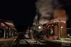 End of the Run in More Ways Than One (jwjordak) Tags: night platform station wmsr 734 280 steam cumberland maryland unitedstates us
