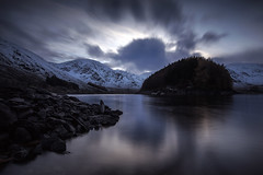 At the end of the day (Griff~ography) Tags: haweswater reservoir lakedistrict cumbria dusk mountains snow water reflection longexposure leefilters clouds movement