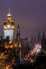 Edinburgh nights (_gate_) Tags: princess street edinburgh scotland uk scott monument balmoral united kingdom