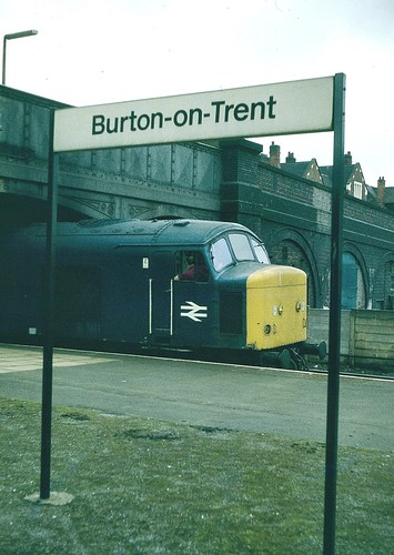 British Rail diesel loco 46014 Burton-on-Trent