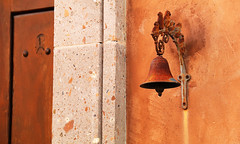Rusty Bell (studioferullo) Tags: abstract architecture art beauty bright building city colorful colors contrast design detail downtown edge gold house light metal minimalism outdoor outside perspective pattern pretty rust scene serene tranquil study sunlight sunshine street texture tone weathered world tucson arizona bell brown ocher ochre stone wood adobe stucco plaster