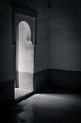 Collecting Light (Meister Schnitter) Tags: marrakech medersabenyouseff pentax k5 bw lowlight minimalistic architecture dark darkness muslim marocco old building ilovelight icollectlight