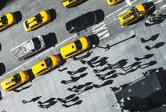 Shadows in NY (fotografo.caminante) Tags: shadows newyork people taxis yellow cab street city hasselblad phaseone iq260