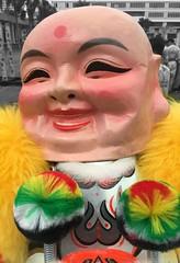 Jolly the Man (ToGa Wanderings) Tags: jolly happy plastic man head bald pink fluffy quirky fun culture playful funny fast fat mask asia celebration tradition vietnam newyear lunar face feel emotion jocular gleeful joyful smiling content euphoric euphoria ecstatic jubilant cheeks silly vietnamese