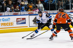 "Missouri Mavericks vs. Wichita Thunder, February 3, 2017, Silverstein Eye Centers Arena, Independence, Missouri.  Photo: John Howe / Howe Creative Photography • <a style=""font-size:0.8em;"" href=""http://www.flickr.com/photos/134016632@N02/32561329912/"" target=""_blank"">View on Flickr</a>"