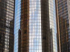 Renaissance Center, Detroit, Michigan (duaneschermerhorn) Tags: building structure architecture design architect abstract highrise skyscraper contemporary modern contemporaryarchitecture modernarchitecture reflection reflective