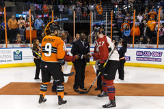 "Missouri Mavericks vs. Quad City Mallards, February 18, 2017, Silverstein Eye Centers Arena, Independence, Missouri.  Photo: John Howe / Howe Creative Photography • <a style=""font-size:0.8em;"" href=""http://www.flickr.com/photos/134016632@N02/32654241070/"" target=""_blank"">View on Flickr</a>"