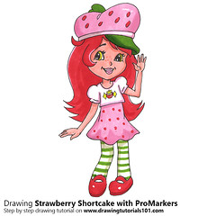 Strawberry Shortcake with ProMarkers (drawingtutorials101.com) Tags: strawberry shortcake cartoon promarkers alcohol markers promarker color coloring drarw drawing drawings how draw sketch sketches sketching timelapse video speedrawing
