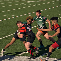Marshall v. Blackhorse Rugby (SUNY-Fredonia) (Mike McCall) Tags: copyright2017mikemccall stpatricksdayrugbytournament 2017 rugby sport sports team savannah chathamcounty georiga usa photo image men marshall university thunderingherd herd suny fredonia blackhorse