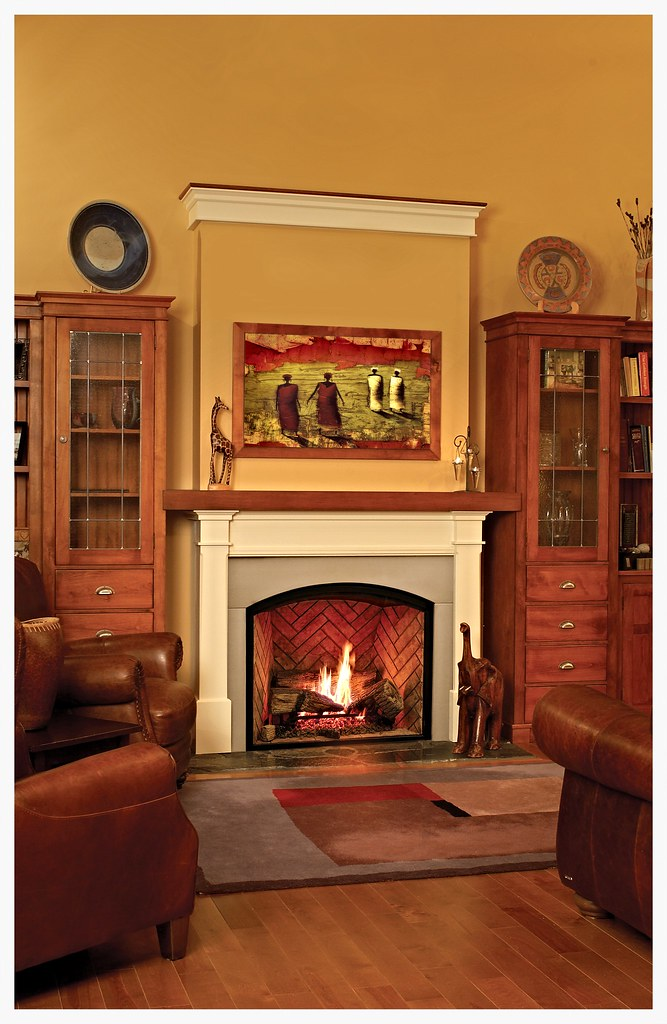 Town & Country TC36 arch direct vent fireplace