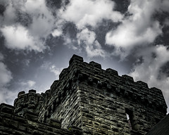 Castle Walls (the_muddy_girl) Tags: park old blue ohio sky cloud brick tower castle castles nature stone wall architecture clouds buildings outside outdoors grey fort cleveland towers north parks medieval fantasy cuyahoga keep walls etsy northeast fortress squires reservation bulding chagrin