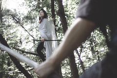 Lady in the Woods #2 (nationkb) Tags: tree fight fantasy concept smalltown overtheshoulder obstacles smalltowndrama
