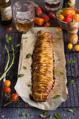 IMG_5768_exp-2 (Helena / Rico sin Azcar) Tags: cheese tomato ham basil puffpastry tomate oregano mozzarella organo jamn hojaldre albahaca