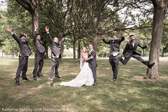 Wedding - Bridal party (MorboKat) Tags: family wedding people white silly love nature beautiful outside groom bride jump couple dress mr outdoor hamilton bridesmaids weddingdress mrs groomsmen newlywed mrmrs bridalparty whitedress weddingphotography dundurncastle