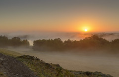 Cropston Mist (John__Hull) Tags: uk autumn trees england mist water misty stone sunrise countryside woods nikon leicestershire reservoir british d3200 cropston