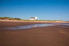 Thorntonloch Beach and Torness Power Station (Briantc) Tags: beach scotland nuclear beaches powerstation tideout eastlothian torness thorntonloch