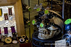 WHITBY GOTH OCT 2015-11 (Sophie Lavender Photography) Tags: new wedding food cakes up fashion closeup shopping skulls weird cupcakes scary eyes shoes rocks close dress boots head weekend top gothic goth goggles hats style objects taxidermy spooky dresses footwear whitby tophat products accessories bling bridal closeups alternative steampunk headgear jewellary
