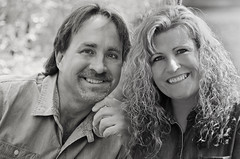 Alverna & Kevin B&W (Javcon117*) Tags: bw woman white man black male smile smiling closeup composite female happy couple pretty close married handsome together age attractive casual 50s 40 aged rough middle 50 cleancut engaged rugged forty 40s fifty lean javcon117 frostphotos