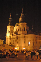 Church of St. Nicholas, Old Town Square, Prague, Czech Republic (trphotoguy) Tags: evening nightshot czech prague czechrepublic baroque oldtown oldtownsquare stnicholaschurch lessertown churchofstnicholas baroquechurch churchofsaintnicholas