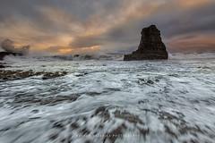 Tidal Rush (hazarika) Tags: sunset seascape waves davenport davenportbeach canon1635mmf28liiusm canon5dmarkiii lee06softstepgnd mausamhazarikaphotography