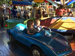 """Paul and Inde Ride in a Car at Sonny Acres • <a style=""""font-size:0.8em;"""" href=""""http://www.flickr.com/photos/109120354@N07/22928843700/"""" target=""""_blank"""">View on Flickr</a>"""