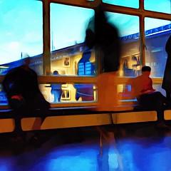 Gallery Reflected (karen axelrad (karenaxe)) Tags: berlin gallery slowshutterapp snapseed icolorama