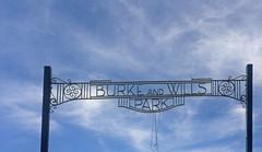Burke and Wills (Kaptain Kobold) Tags: park sky history sign australia nsw exporers menindee kaptainkobold