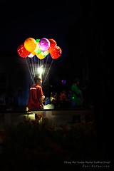 Balloon Man (Dari_Extension) Tags: man balloon nightlight nightlife nightstreet