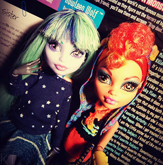 Best ghoulfriends (KTKate_and_Tanya) Tags: monster high wolf doll dolls wishes 13 mh mattel basic twyla howleen