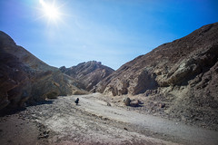 Ashlyn, Photographer, Golden Canyon. (Matt Benton) Tags: digital deathvalley goldencanyon voigtlandersuperwideheliar15mmf45 sonyalpha7 trip2015
