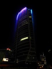 Lyon by night (Laetitia de Lyon) Tags: nikoncoolpixp7100 lyon nuit night lumière light building oxygène tour tower