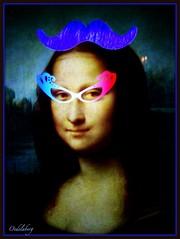 Crazy-Mona (Kay Harpa) Tags: monalisa paris décembre2016 applicationpublique kayofkollage thebiggestgroup france fun