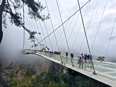 Walking on the clouds! (najeebmahmud) Tags: iphone6 clouds people asia tree light clif skywalk china glass holiday holidays extreme serene sensational awesome wow bridge rain