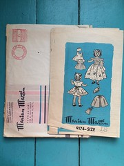 Marian Martin 9174 (kittee) Tags: kittee vintagesewing vintagepatterns marianmartin marianmartin9174 9174 dollclothes doll dolls dollwardrobe nodate 1950s size18 dress pinafore cape hat slip bloomers panties unmarked sewing sewingpattern vintage pattern