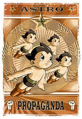 Astro Propaganda (kyès) Tags: astro boy propaganda war communist japan draw digital work fist star nuclear bomb