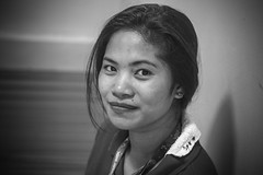 Stranger 50/100 (Stitch) Tags: 100strangers portrait stranger smile vignettes blackandwhite bw sanjuan manila philippines asian woman pretty tamron