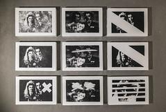 tandem (Kaja Utkowska) Tags: tandem lithography printmaking art oldphoto raster couple lines cycle bw