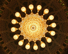 Chandelier (The kun) Tags: chandelier oman muscat mosque sultan arabian building panasonicdmcfz10 werner